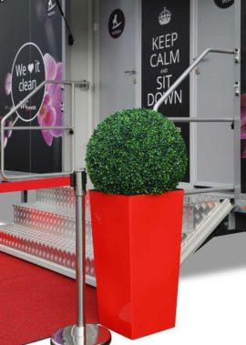 Eingang - Toilettenwagen für Events