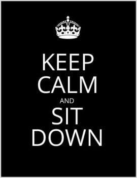 WC4events - Keep Calm and Sit down