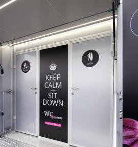 Eingang - Toilettenwagen für Events -