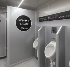 Innenansicht Pissoir - Toilettenwagen für Events